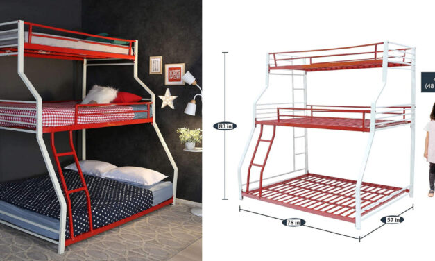 Double Metal Bunk Bed without Storage