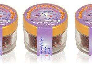 Kashmiri Pampore Organic Saffron Organic Saffron, 3 x 1 g